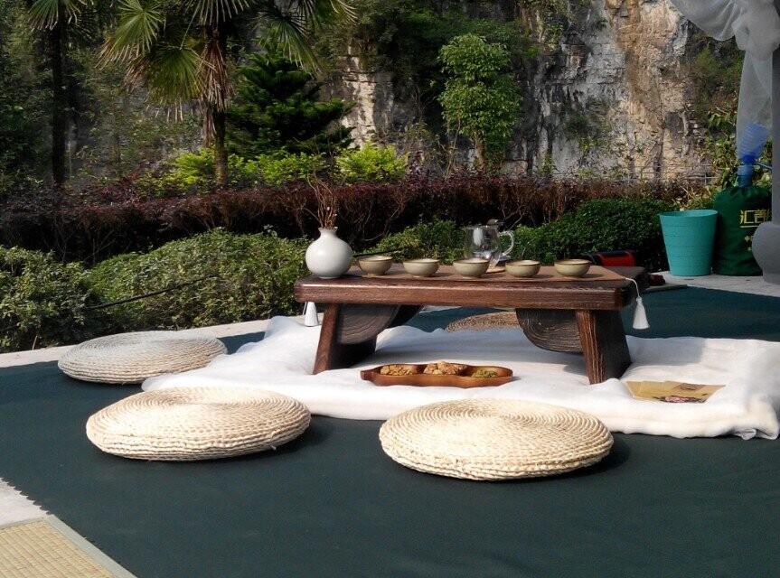 茶道文化节现场的茶席设计
